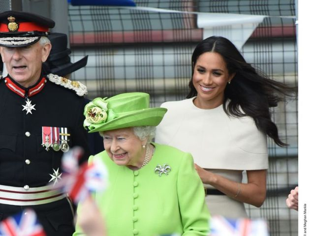 Queen Elizabeth and Meghan, Duchess of Sussex