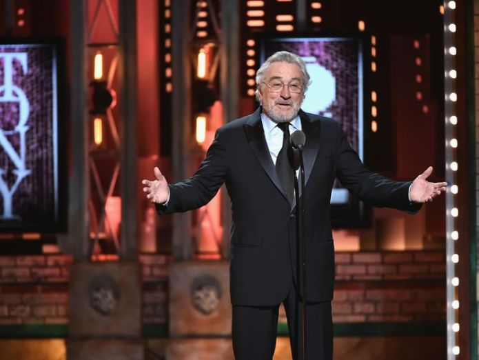 Robert De Niro speaks onstage during the awards ceremony in New York Harry Potter And The Cursed Child among British winners at 72nd Tony Awards Harry Potter And The Cursed Child among British winners at 72nd Tony Awards skynews robert de niro tony awards 4333194