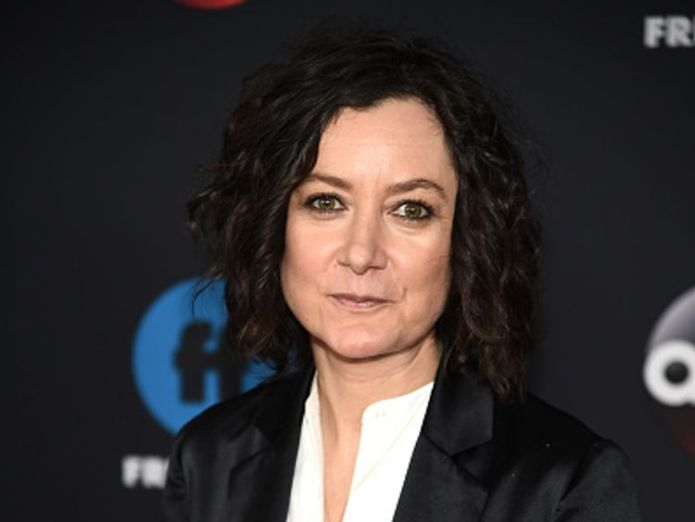 Sara Gilbert, who played Darlene, could be the star of the Roseanne reboot Roseanne sitcom could return without title character after race storm Roseanne sitcom could return without title character after race storm skynews sara gilbert roseanne 4326232