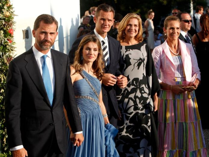2010: Prince Felipe, his wife Princess Letizia, Inaki Urdangarin, his Princess Cristina and Princess Elena on the Greek island of Spetses King Felipe's brother-in-law Inaki Urdangarin jailed in Spain King Felipe's brother-in-law Inaki Urdangarin jailed in Spain skynews spain prince felipe 4339114