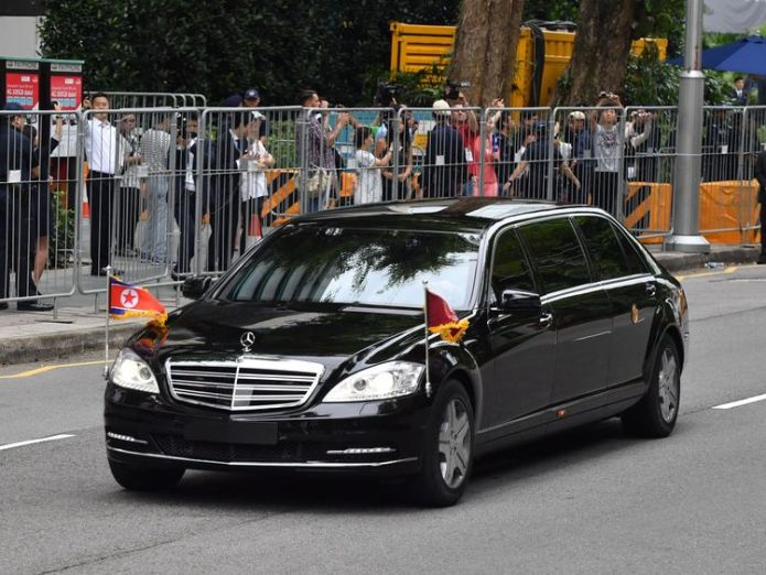Kim Jong Un's motorcade as he arrives for the historic summit Korean popstars and younger sisters: Meet Kim's summit entourage Korean popstars and younger sisters: Meet Kim's summit entourage skynews trump kim 4333784
