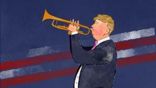 Donald Trump isn't afraid to blow his own trumpet.  Best and worst-case scenarios as Donald Trump meets Vladimir Putin skynews donald trump trump language 4360206