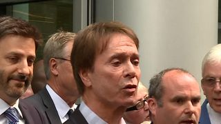Sir Cliff Richard leaves High Court after winning his case against the BBC  BBC to pay additional £850,000 costs skynews sir cliff richard high court 4364987