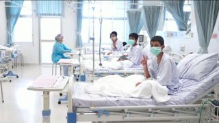 The boys are recovering in hospital  Boys trapped in Thailand cave mourn diver who died in rescue mission skynews thailand cave 4359149