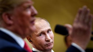 Trump denies Russia colluded in election  Donald Trump creates confusion over Russia stance for second day in a row skynews trump putin collusion 4363717