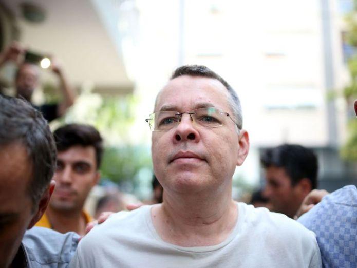 Andrew Brunson  Donald Trump threatens NATO ally Turkey with sanctions over detained US pastor skynews andrew brunson pastor 4372485