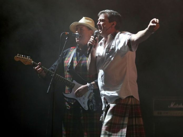 Alan Longmuir (left) and Les McKeown, also of the Bay City Rollers, performing at T in the Park in 2016  Bay City Rollers guitarist Alan Longmuir dies at 70 skynews bay city rollers alan longmuir 4351299