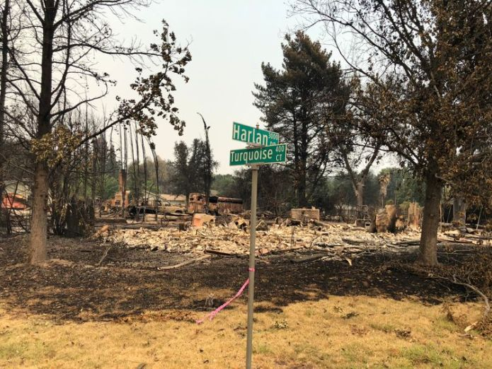 Those affected are facing the decision of whether to rebuild or move  The eerie aftermath of devastating 'fire tornadoes' skynews california wildfires 4375465