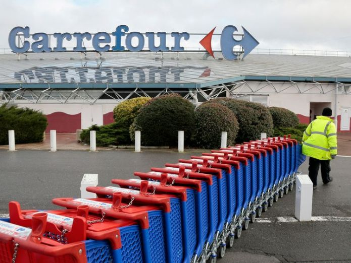 Carrefour is the largest supermarket retailer in France  Tesco moves to bolster 'value' through alliance with Carrefour skynews carrefour supermarket 4351026