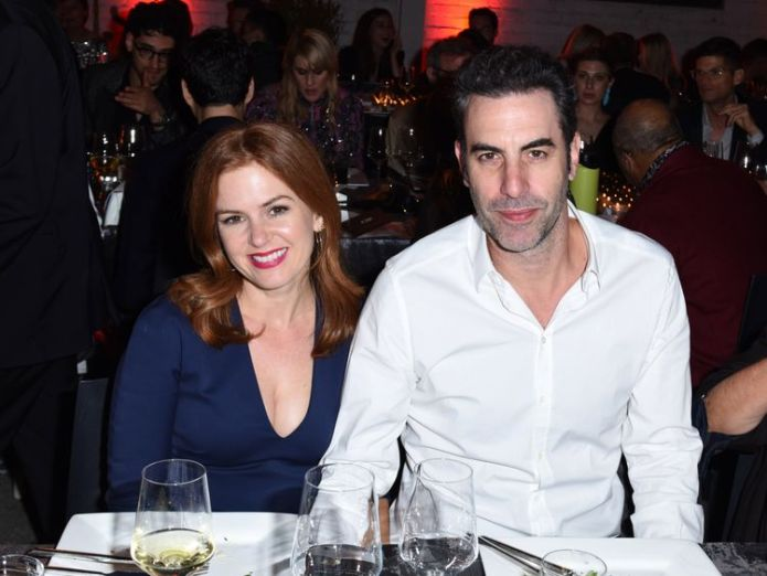 Isla Fisher and Sacha Baron Cohen attend the 2017 Los Angeles Dance Project Gala on October 7, 2017 in Los Angeles, California  Palin attacks Baron Cohen over 'injured veteran wheelchair stunt' skynews isla fisher sacha baron cohen 4358833