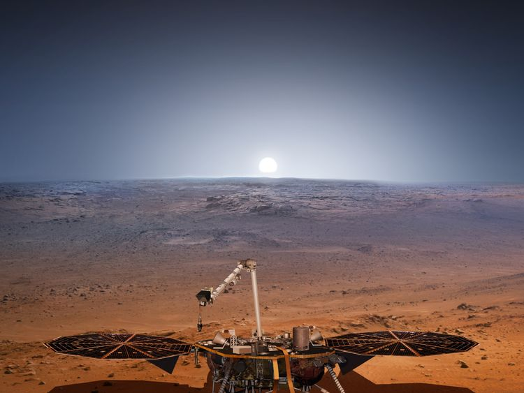 The InSight lander is due to land on Mars in November. Pic: NASA