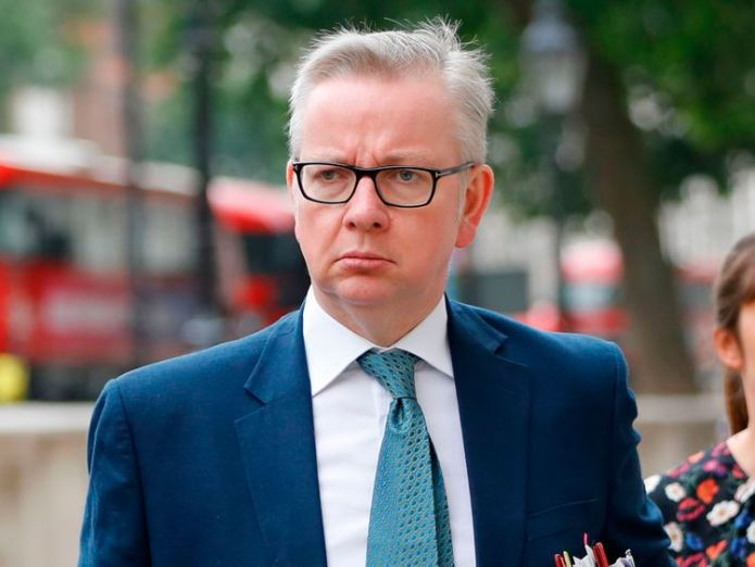 Michael Gove  Water companies must 'raise the bar' on tackling leaks skynews michael gove whitehall 4357224