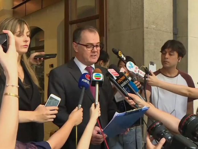 QT's lawyer Michael Vidler hopes the verdict will 'pave the way to change'  British same-sex couple win landmark ruling to live together in Hong Kong skynews michael vidler qt hong kong 4353079