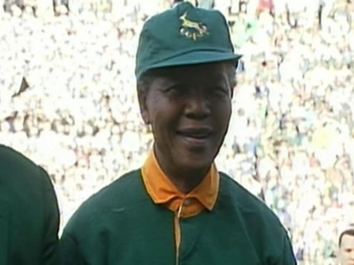 Nelson Mandela has a multi-racial security team  Former president remembered by workers skynews nelson mandela africa 4364799
