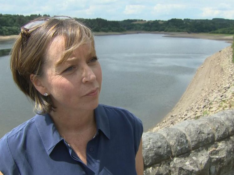 Helen Apps from United Utilities said they still need customers to use water wisely