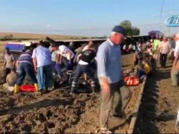 A train has derailed in Turkey  At least 10 people killed and 73 injured as train derails in Turkey skynews turkey train derailment 4357018