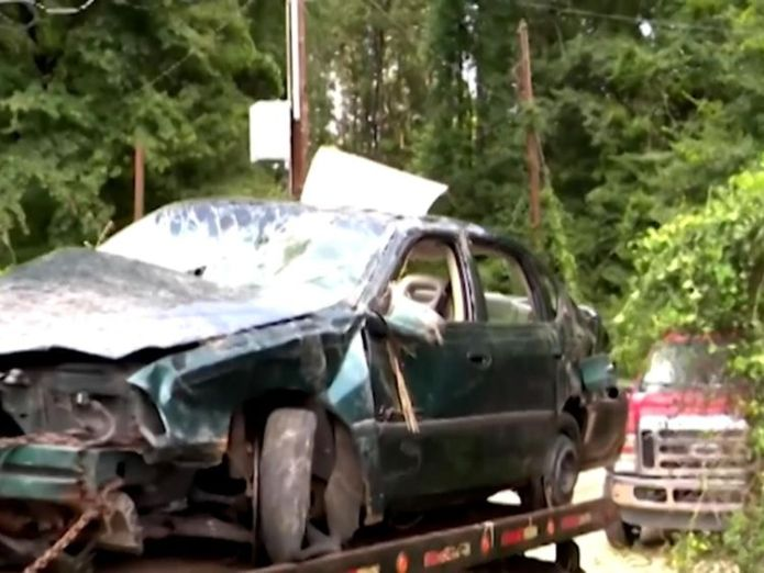 The car had crashed down a deep ravine  Toddlers survive in wrecked car for days after crash kills mother skynews arkansas car crash 4397210