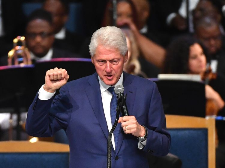 Bill Clinton described himself as a groupie for Aretha Franklin