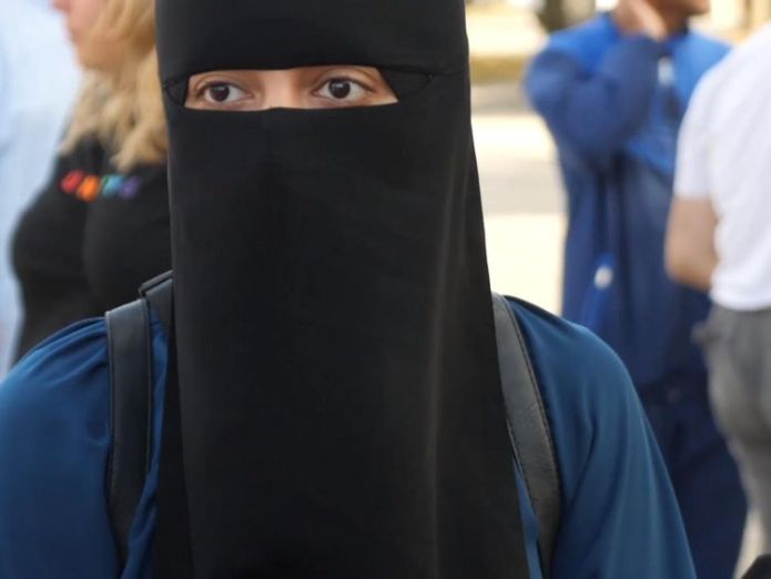 Burka ban protester Sabina  The women facing fines for what they choose to wear skynews burka denmark 4386607