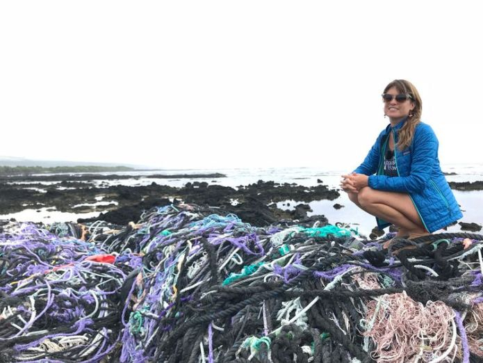 Sarah-Jeanne Royer said the research proves less plastic should be used  Degrading plastics 'release greenhouse gases', study shows skynews hawaii plastics ocean rescue 4378187