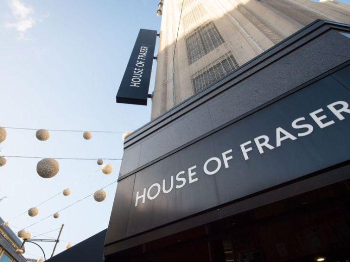 House of Fraser   Greggs on a roll despite hit from summer heatwave skynews house of fraser shop front 4403425