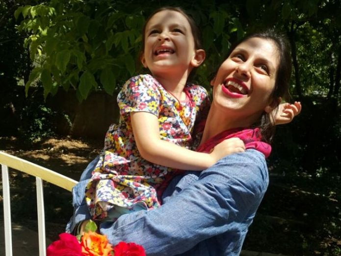 Nazanin Zaghari-Ratcliffe is reunited with her daughter after being granted a temporary release from prison  Iran, trade and Salisbury on agenda as Theresa May visits UN General Assembly skynews nazanin zaghari ratcliffe 4398767
