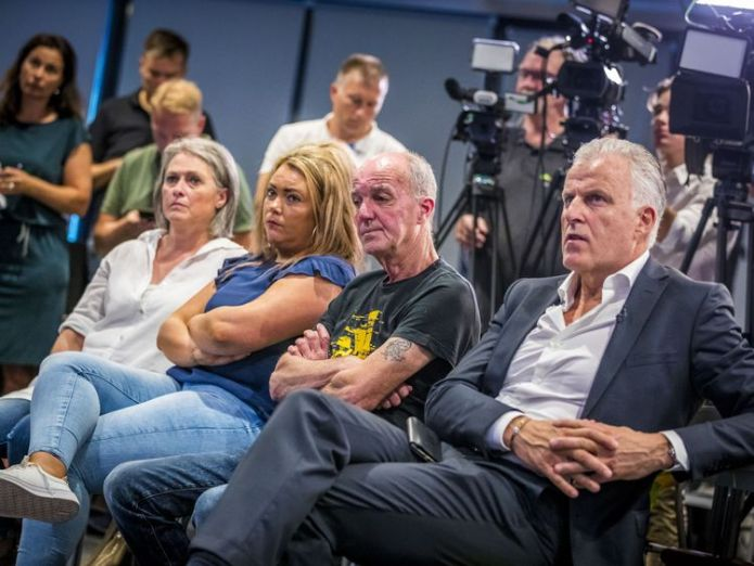 Nicky's father Peter Verstappen (C), his sister Femke and mother Berthie Verstappen at the press conference  Prime suspect in 1998 murder of Dutch boy Nicky Verstappen arrested skynews nicky verstappen dutch police 4397912