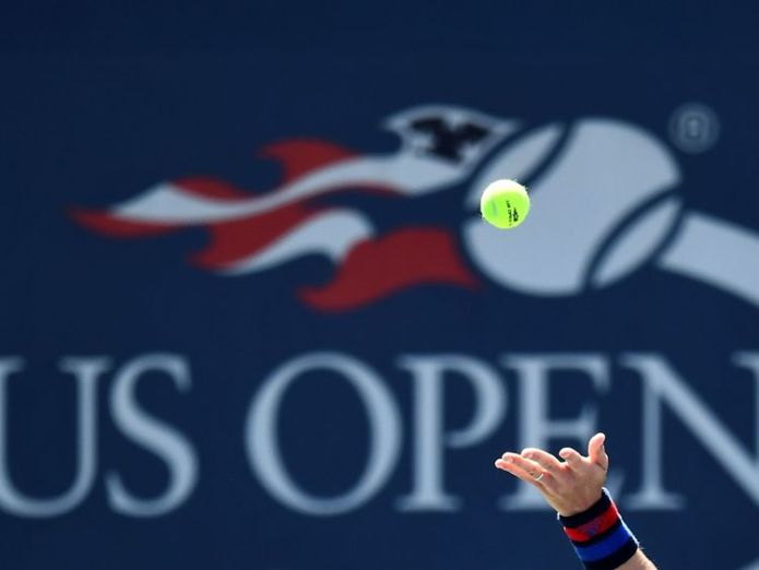Czech Republic's Tomas Berdych serves the ball to Ryan Harrison of the US during their 2017 US Open Men's Singles match at the USTA Billie Jean King National Tennis Center in New York on August 30, 2017. / AFP PHOTO / Jewel SAMAD (Photo credit should read JEWEL SAMAD/AFP/Getty Images)   Alize Cornet brushes off sexism row over shirt change incident skynews us open tennis 4405362