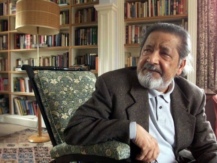 V S Naipaul in 2001 after it was announced that he was awarded the Nobel Prize for Literature  Nobel Prize-winning author V S Naipaul dies skynews vs naipaul british author 4387548