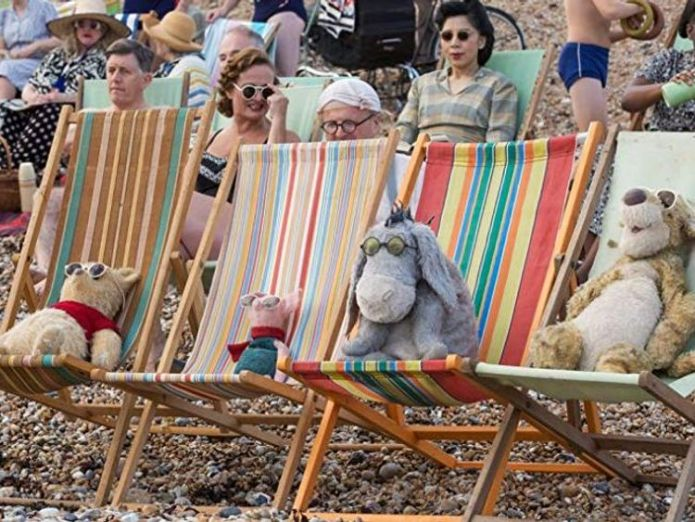 Pooh, Piglet, Eeyore and Tigger catch some rays on the beach  China bans new Winnie the Pooh film amid President Xi comparisons skynews winnie the pooh christopher robin 4382045