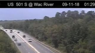 With Hurricane Florence taking aim at the Carolinas, South Carolina residents took advantage of lane reversals to get away from the coast   Life and death decisions as 'monster' storm looms skynews hurricane florence 4418149