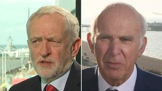 Jeremy Corbyn and Vince Cable