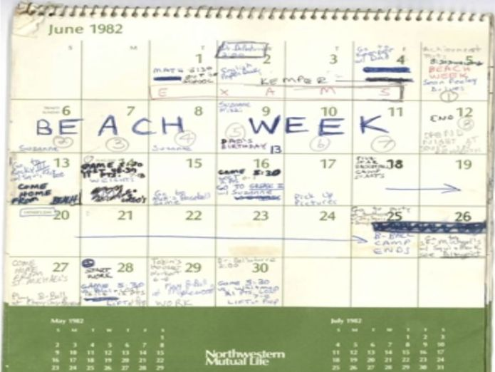 "The page for June has ""beach week"" scrawled across some of the days. Pic: Senate Judiciary Committee  'I believed he was going to rape me' skynews brett kavanaugh calendar pages 4434659"