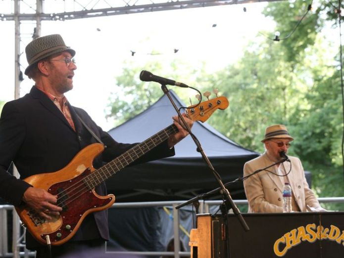 Dave Peacock (left) and Chas Hodges performed at the BST festival in Hyde Park, London this summer  Chas & Dave singer Chas Hodges dies aged 74 skynews chas dave 4429640
