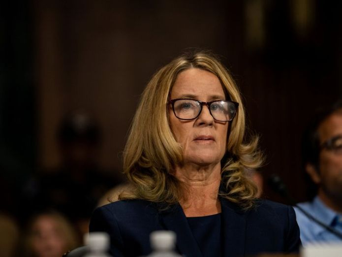 Christine Blasey Ford testifies about sexual assault allegations against Supreme Court nominee Judge Brett M. Kavanaugh  Read Christine Blasey Ford's own words for yourself skynews christine blasey ford 4435385