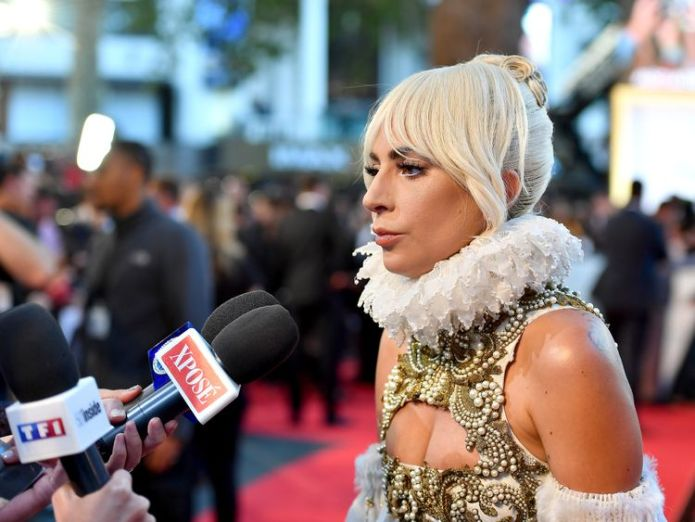 Lady Gaga at the premiere of A Star Is Born  Lady Gaga was told to 'get a nose job' when she started in music skynews lady gaga a star is born 4436168