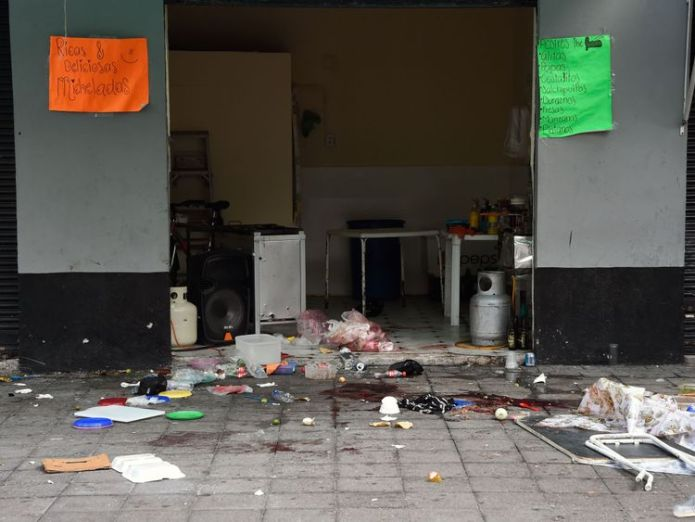 View of the Plaza Garibaldi square in downtown Mexico City on September 15, 2018 a day after gunmen dressed as mariachi musicians killed four people and wounded nine others. - The five assailants carried out the shootings shortly before 10pm on Friday (0300 GMT Saturday) in the busy Plaza Garibaldi -popular with foreign tourists. Neither the motive for the attack nor the identities of the gunmen were known, but the area is located near the Tepito neighbourhood, where a cartel considered the larg  Gunmen dressed as mariachi band shoot dead five people in Mexico City skynews mexico garibaldi shoot 4422504
