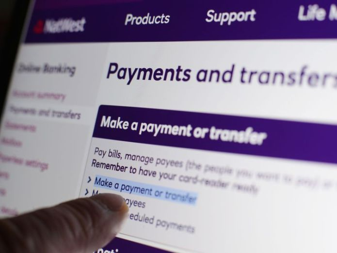The NatWest online banking website on a laptop, in London, as banking customers with NatWest, RBS, Lloyds and Halifax struggled with online banking glitches on Friday 28/4/17  RBS plots launch of standalone digital consumer bank Bó skynews natwest rbs online 4435607