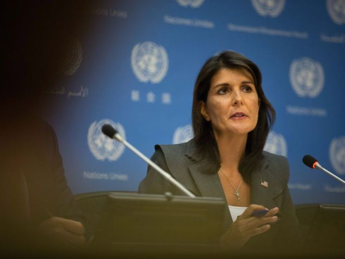 United Nations U.S. Ambassador Nikki Haley  Who is Donald Trump's Colonel Mustard? skynews nikki haley un ambassador 4413220