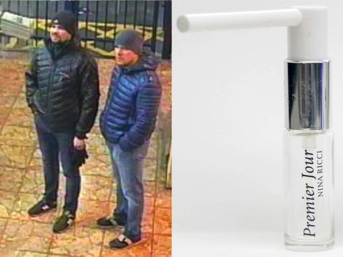 Both suspects at Salisbury train station  Novichok suspects say they had nothing to do with Salisbury poisoning skynews novichok suspects salisbury train station 4412005