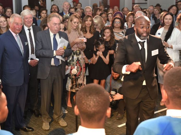 The Prince of Wales listening to a schools choir   Stars join Prince Charles to demand all children get access to the arts skynews prince charles arts 4412627