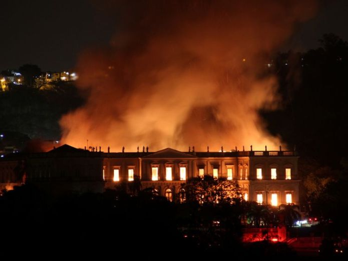 The museum houses millions of items related to the history of Brazil and other countries  Huge blaze at historic museum in Rio de Janeiro, Brazil skynews rio de janerio brazil 4409996