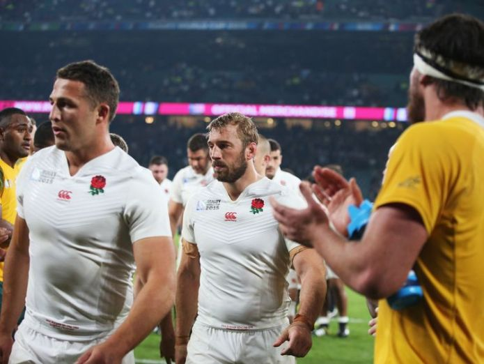 Sam Burgess after Australia eliminated England from the 2015 Rugby World Cup  England rugby star Sam Burgess wants investigators 'to get to the truth' on 'sexting' scandal skynews sam burgess rugby 4424863