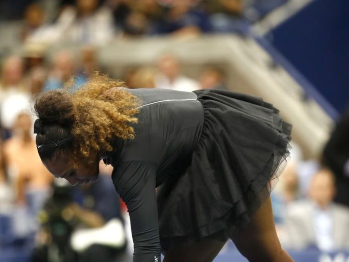 on Day Thirteen of the 2018 US Open at the USTA Billie Jean King National Tennis Center on September 8, 2018 in the Flushing neighborhood of the Queens borough of New York City.  Serena Williams breaks silence on umpire sexism row in US Open final skynews us open serena williams 4415586
