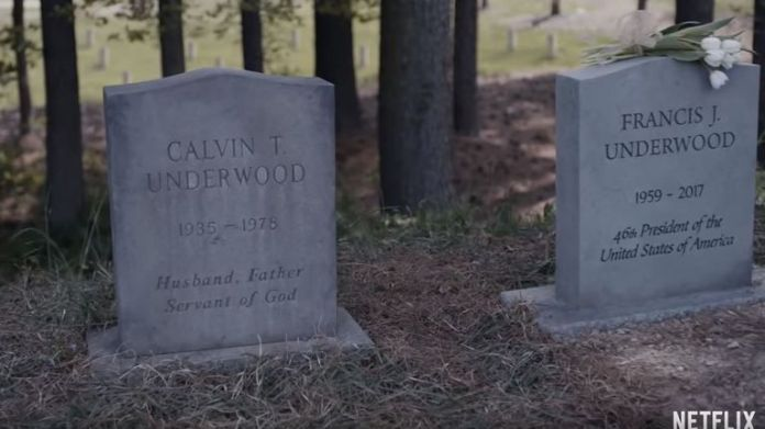 Kevin Spacey's character has been killed off
