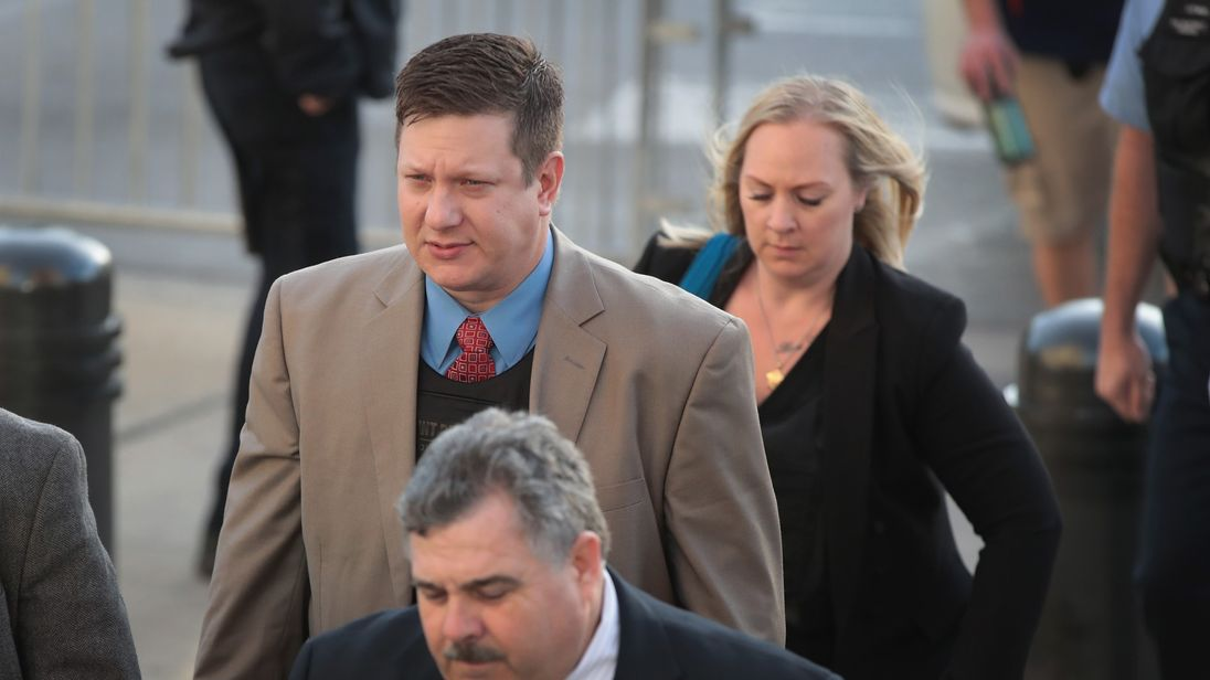 Guilty of murder: White policeman Jason Van Dyke who shot ...