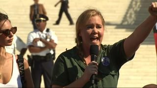 Amy Schumer joined the rally in Washington DC