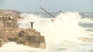 Strong winds and heavy rain has not stopped Portland residents from having a good time.