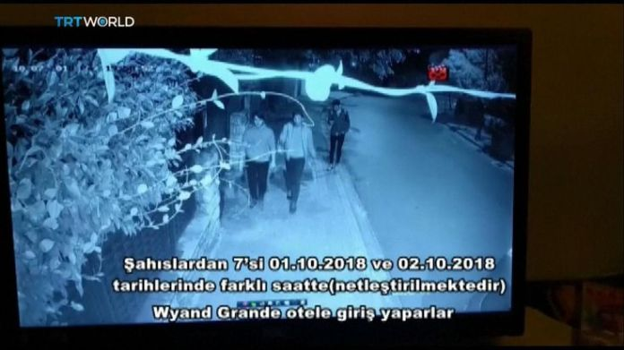 Saudi men linked to Jamal Khashoggi disappearance leave a hotel  15-man Saudi 'hit squad' pictured on day journalist disappeared skynews jamal khashoggi saudi consulate 4448849