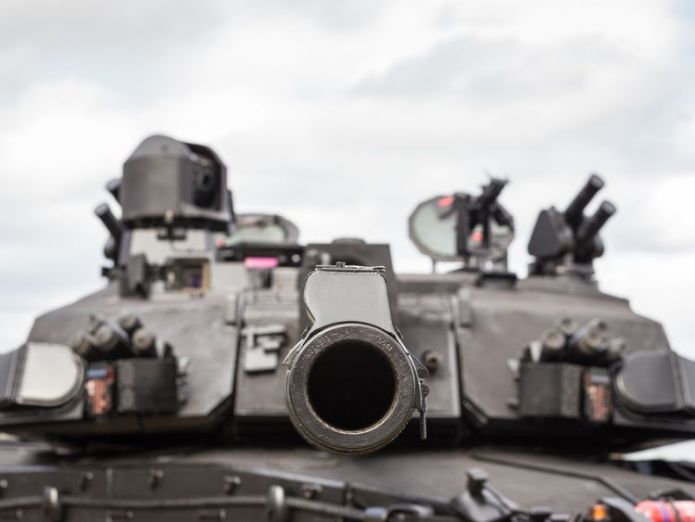 The tanks will be able to automatically launch a counter-explosive at incoming anti-tank missiles. Pic: BAE Systems  Upgraded tank for UK army unveiled by BAE Systems skynews bae systems black night 4443005